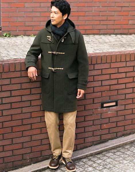 Мужской дафлкот и ботинки неформальные