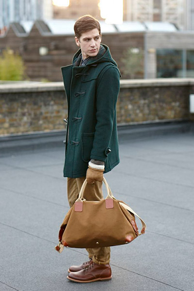Мужской дафлкот Gloverall и сумка