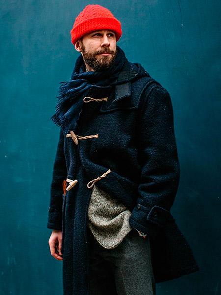 Аксессуары для мужского дафлкота шапка