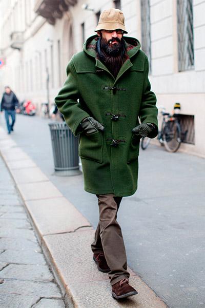 Аксессуары для мужского дафлкота шарф и перчатки